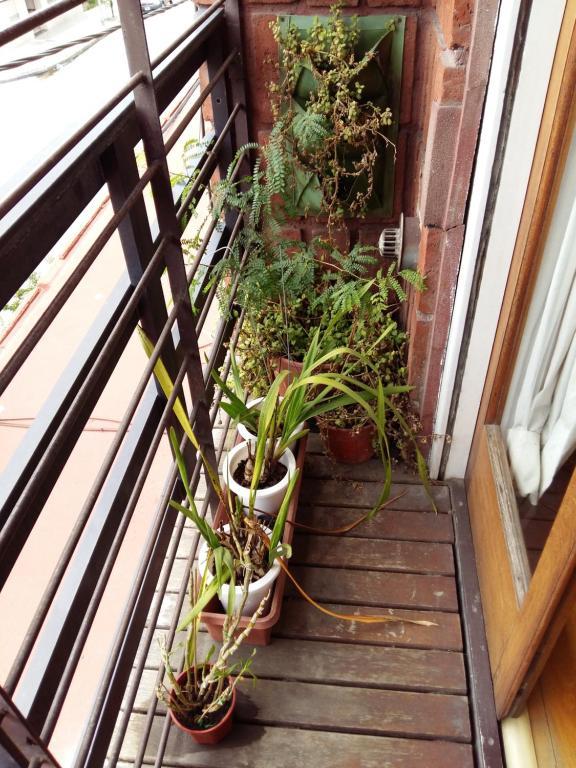 Un balcón o terraza en Departamento familiar por temporada