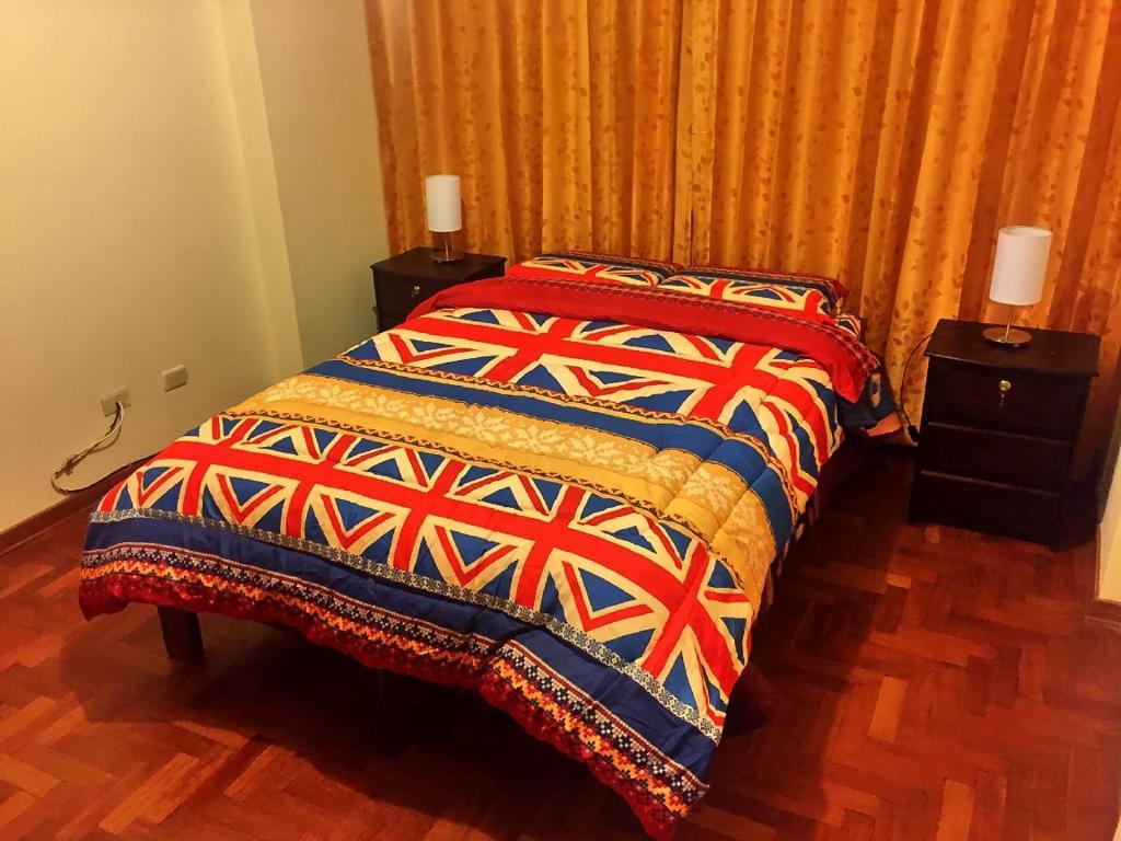 Cama o camas de una habitación en Homestay Magisterio Cusco