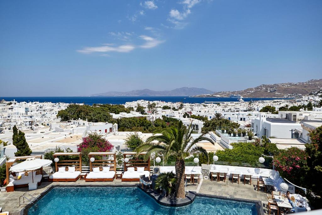 A view of the pool at Belvedere Mykonos - Hotel Rooms &Suites or nearby