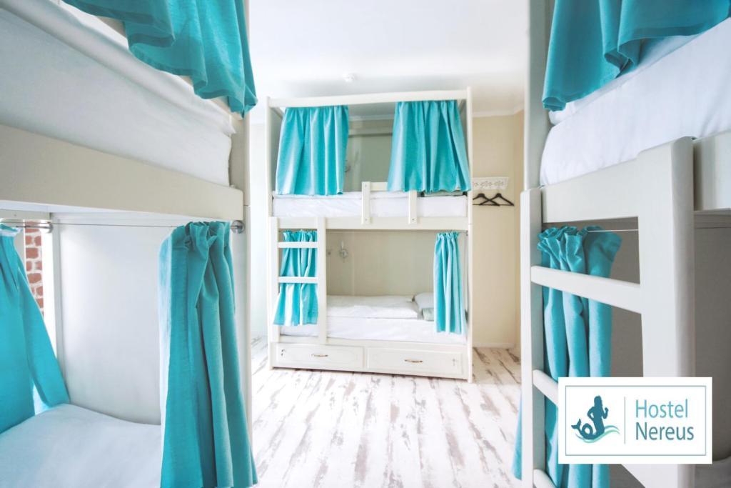 A bunk bed or bunk beds in a room at Nereus Hostel near Kremlin