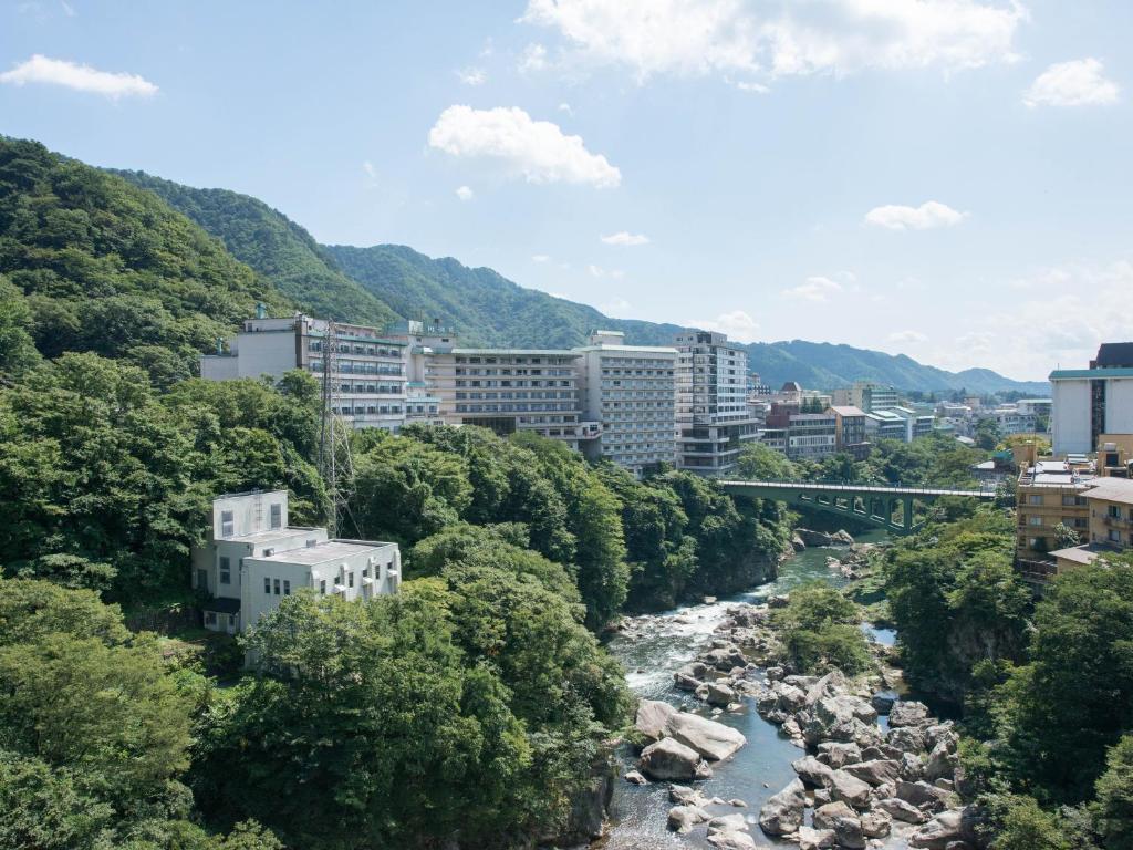 A bird's-eye view of Monogusa no Yado Hanasenkyo