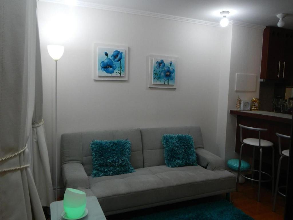 Zona de estar de Depto Providencia
