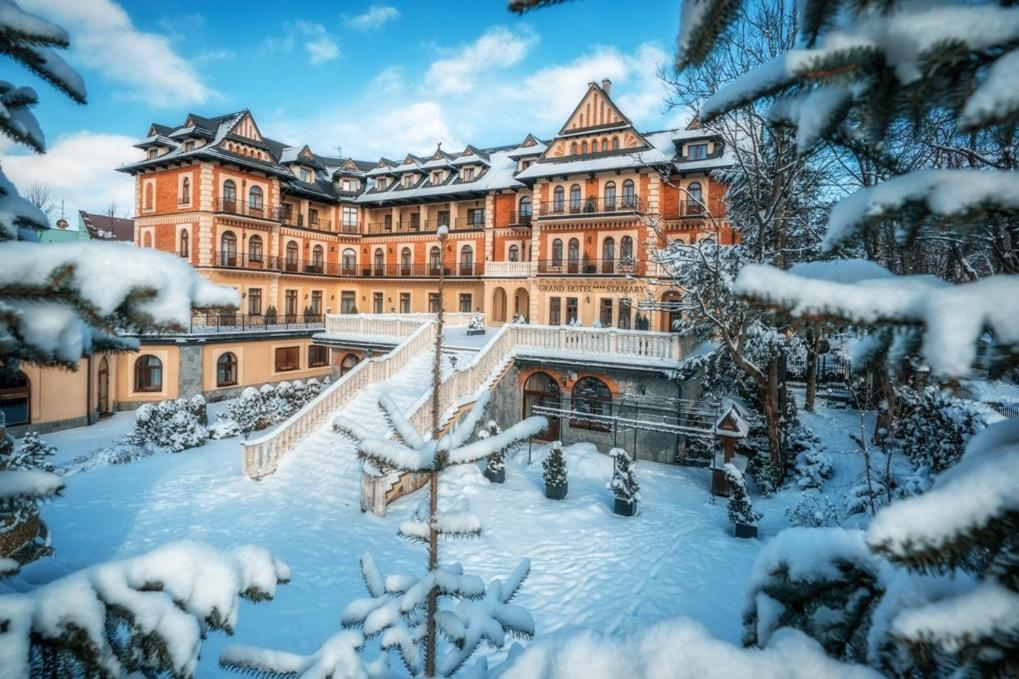 Grand Hotel Stamary during the winter