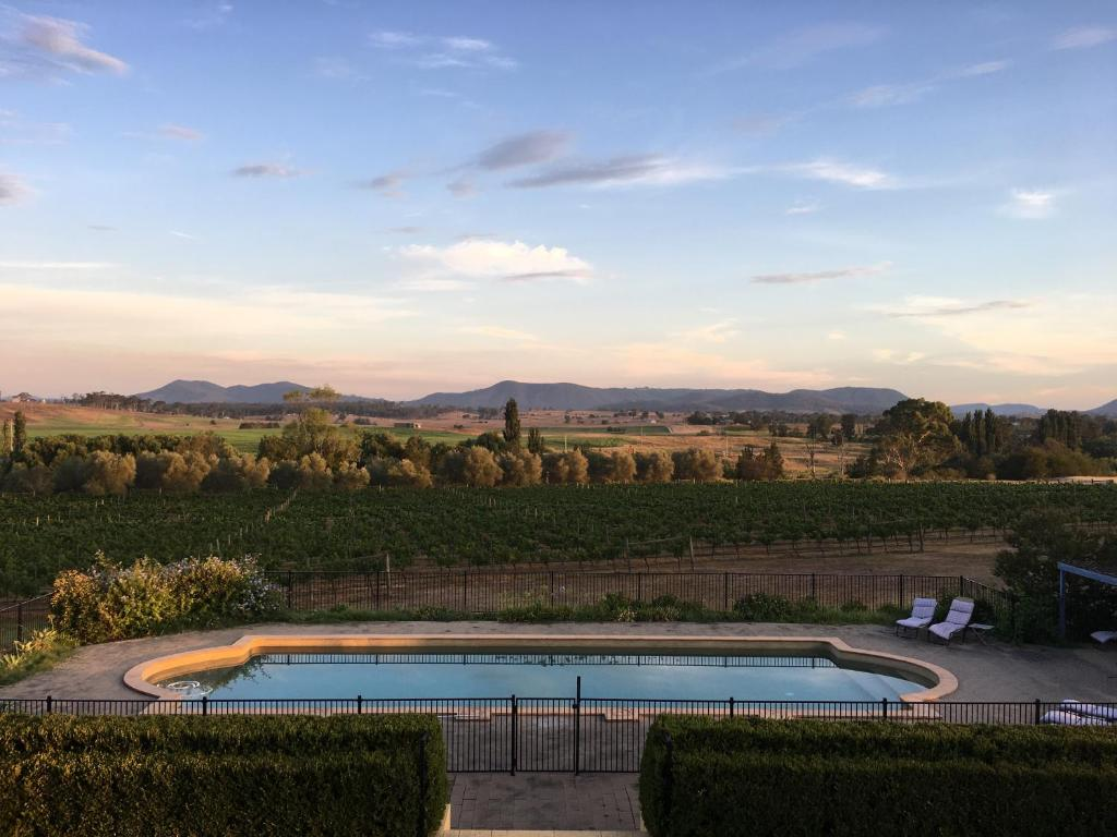 The swimming pool at or near Tranquil Vale Vineyard