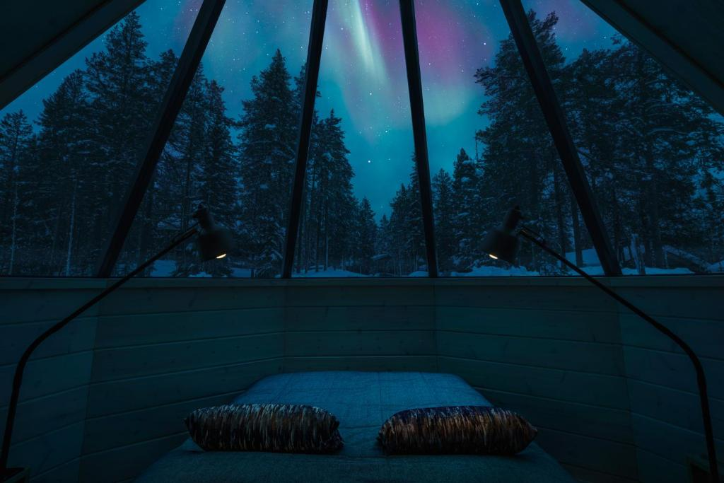 Pyhä Igloos during the winter