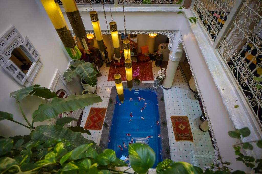 A view of the pool at Riad Eloise or nearby