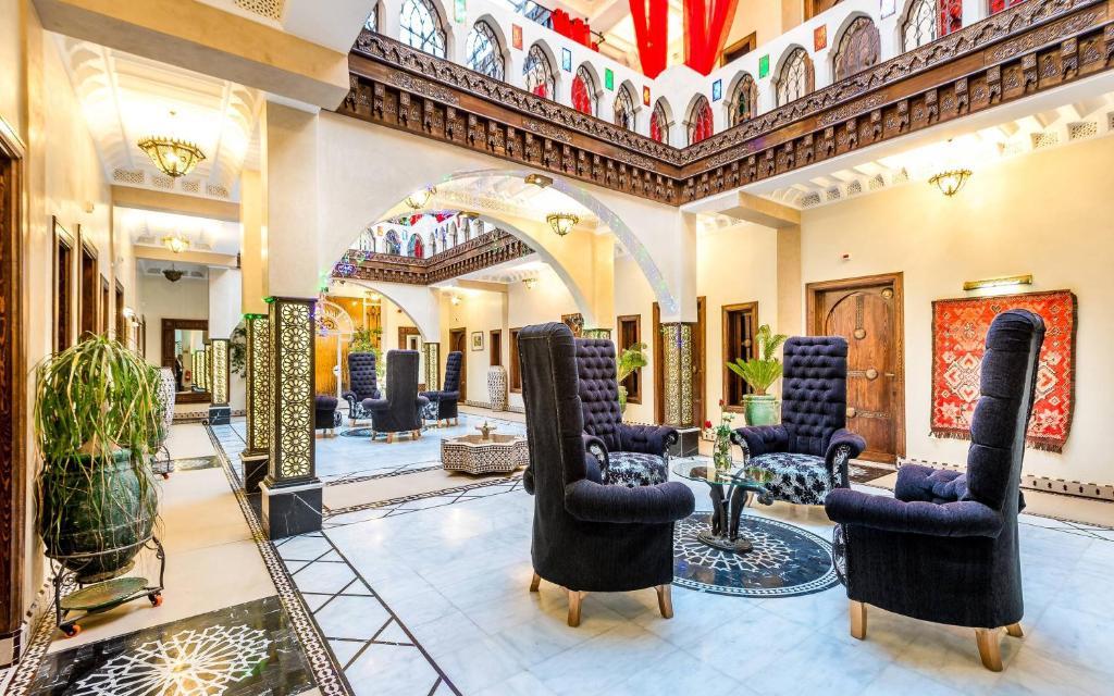 A área de receção ou átrio de Hotel & Ryad Art Place Marrakech