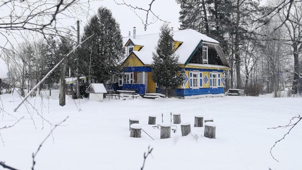 Usadba Nalibokskie Vasil'ki зимой