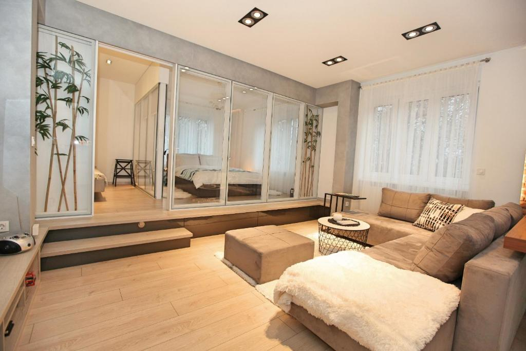 A seating area at Apartment Cubo Maksimir 1