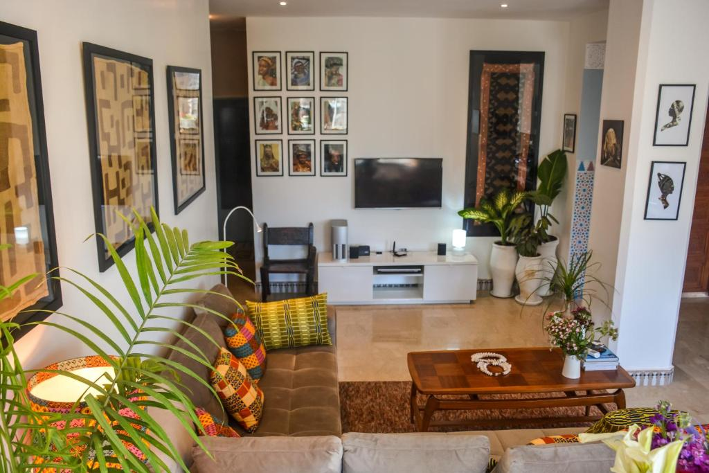 Appartement moderne moroccan/African décoration (Marokko ...