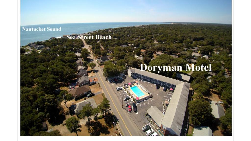 A bird's-eye view of Doryman Motel