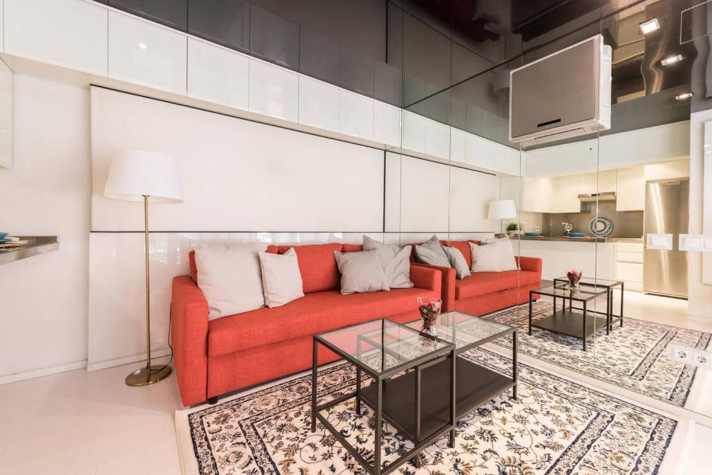 A seating area at My City Home Puerta Hierro Design Duplex