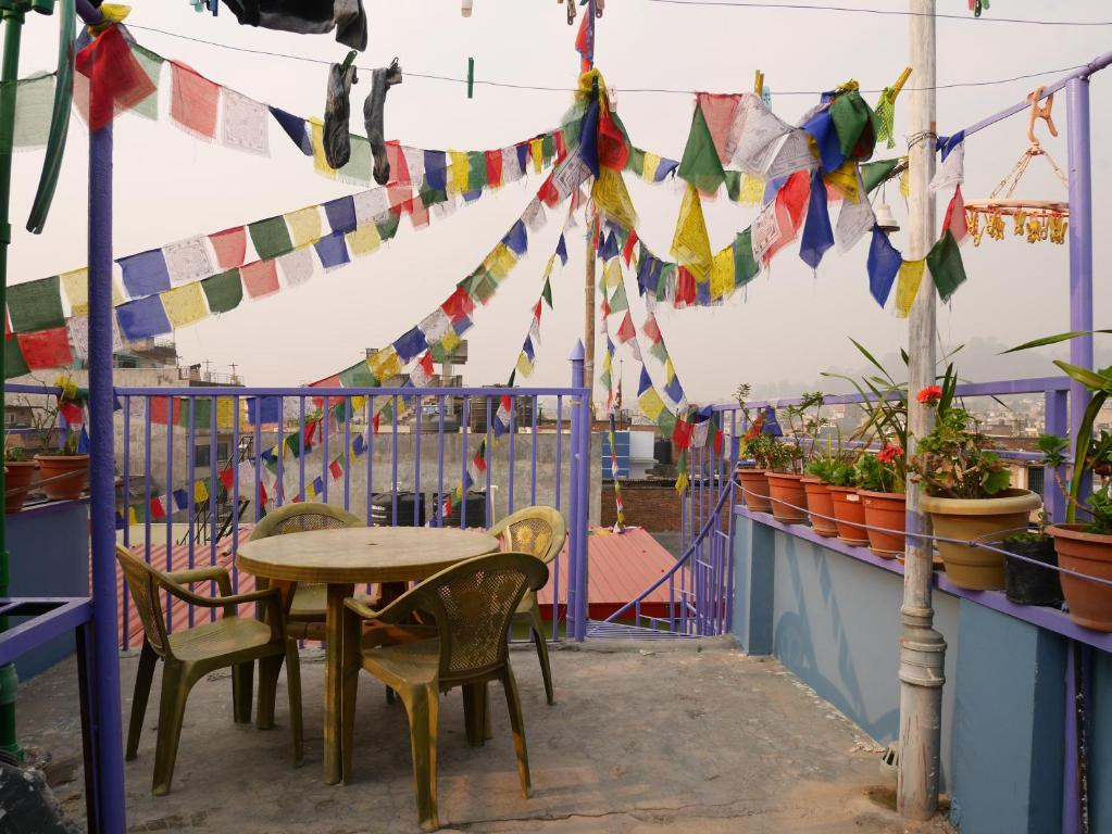 A restaurant or other place to eat at Kathmandu Tourist Homestay