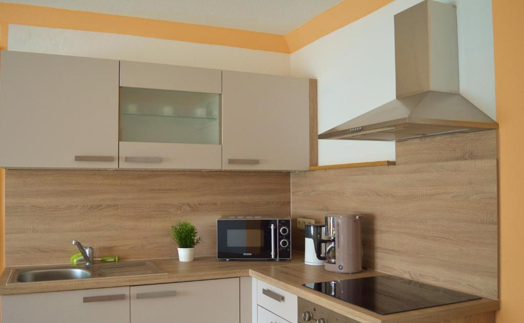 Küche/Küchenzeile in der Unterkunft Ferienwohnung zum Unstruttal