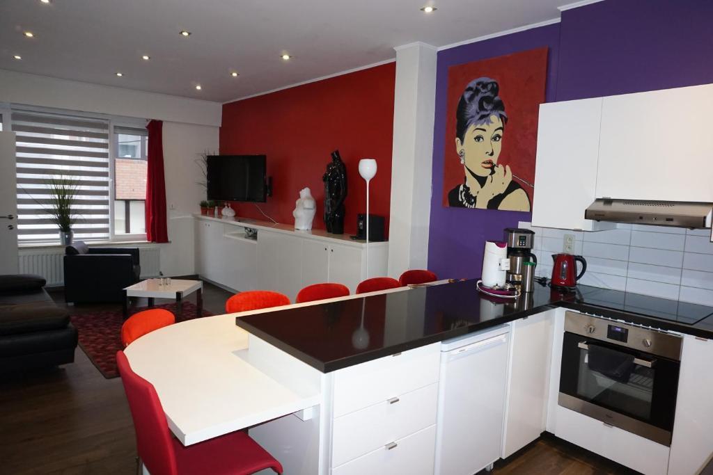 Køkken eller tekøkken på Apartment At Ghent
