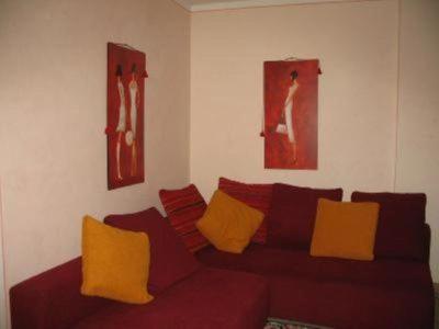 Coin salon dans l'établissement Casa Sotto La Rocca