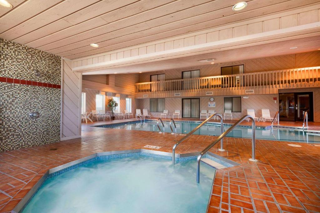 The swimming pool at or near Ramada by Wyndham Wisconsin Dells