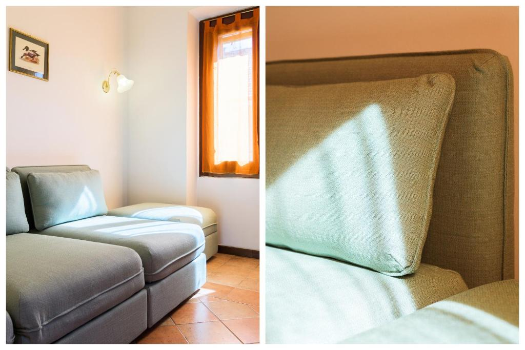 A bed or beds in a room at Gaudenzio Flexyrent Apartment