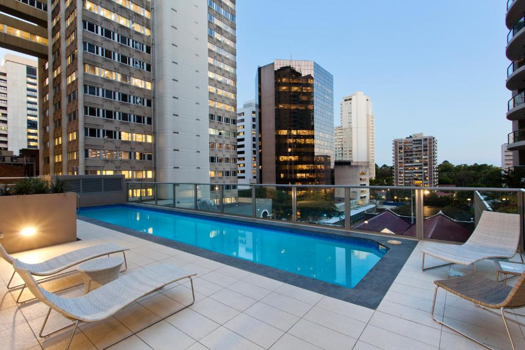 The swimming pool at or close to Mantra Midtown