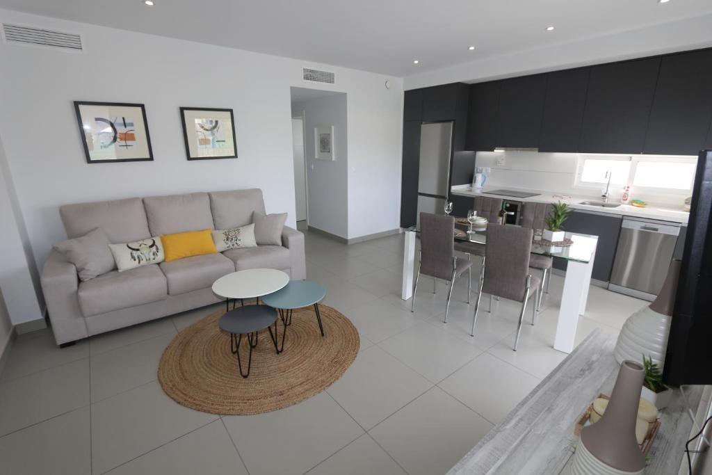A seating area at Apartment La Marina 4863