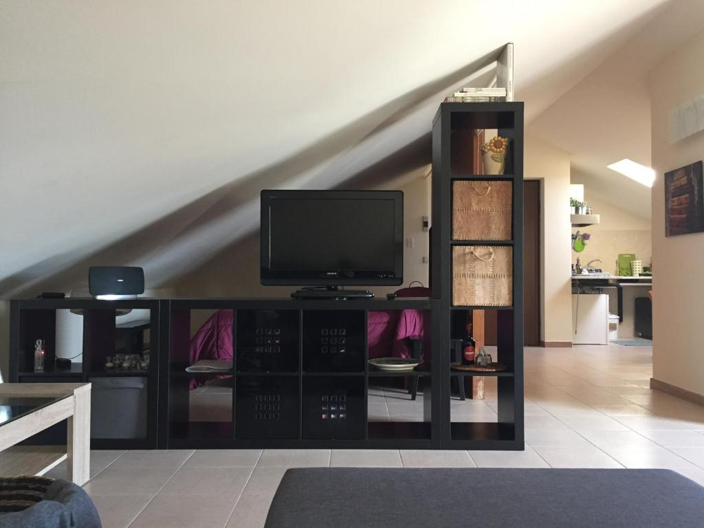 A television and/or entertainment center at Etna loft