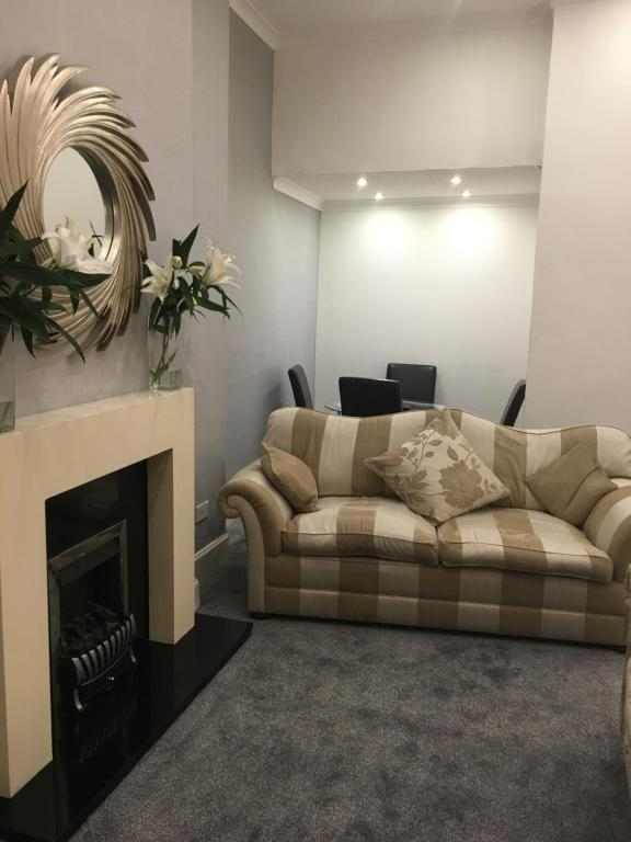 A seating area at South King Apartment