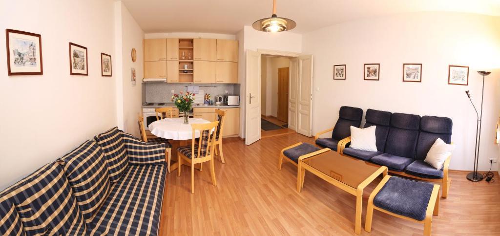 Posezení v ubytování Apartmán Ondřejská