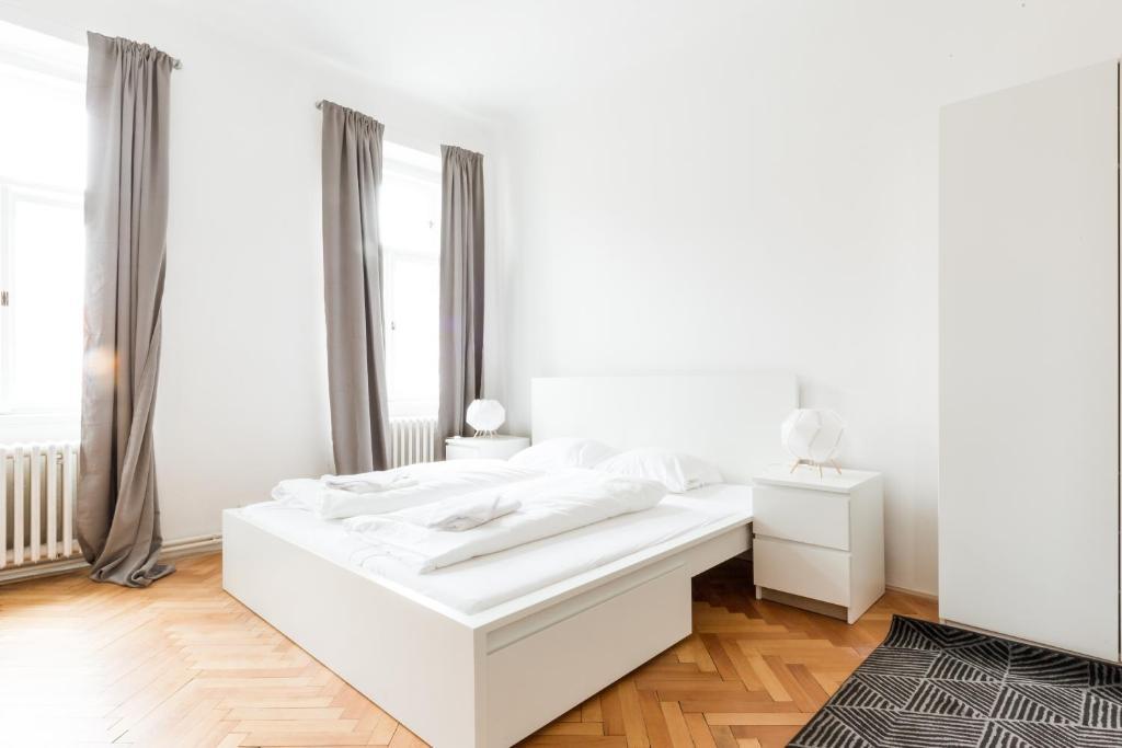 Ein Bett oder Betten in einem Zimmer der Unterkunft Spacious Apartments Andel