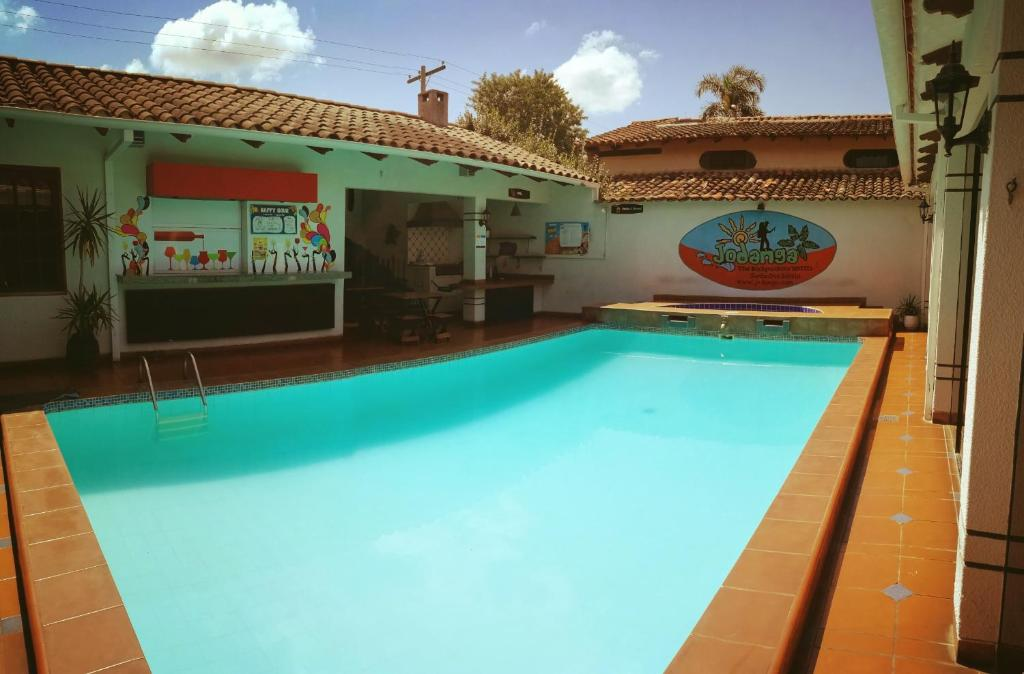 The swimming pool at or near Jodanga Backpackers Hostel