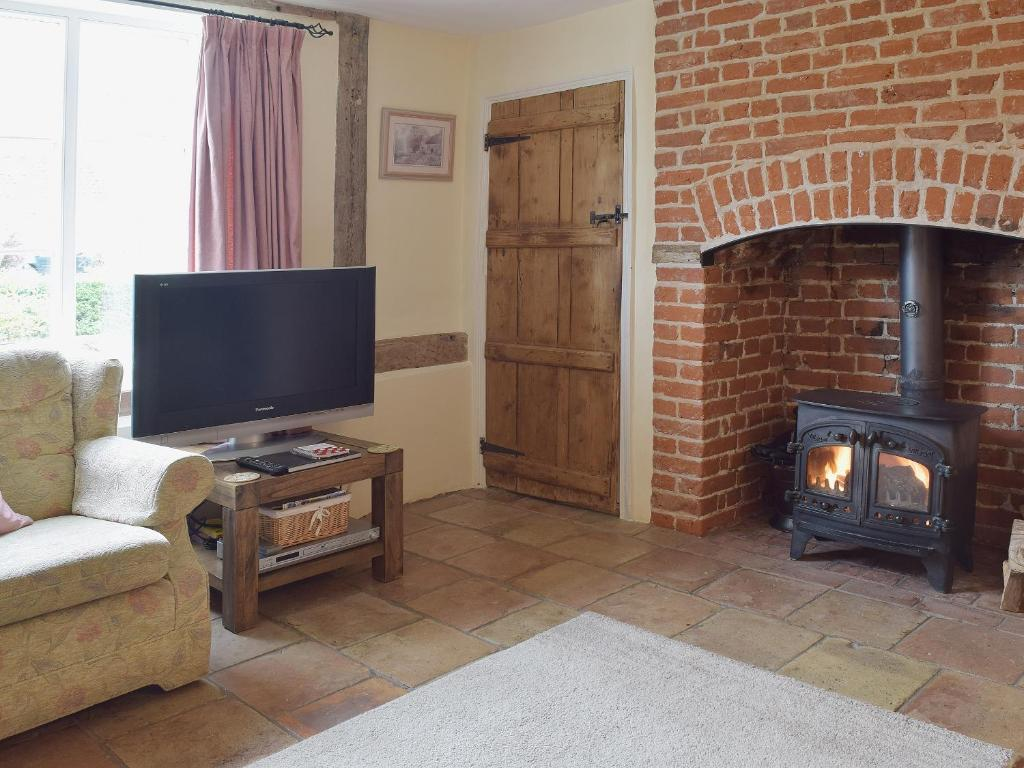 A television and/or entertainment center at Thimble Cottage