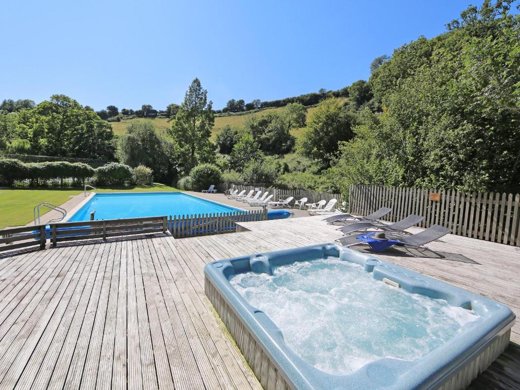 The swimming pool at or close to Milbourn Cottage