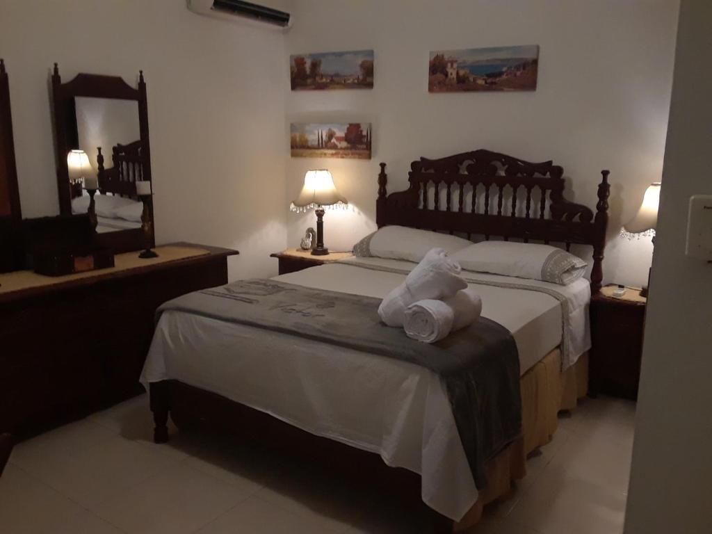 Cama o camas de una habitación en Casa de Pedro
