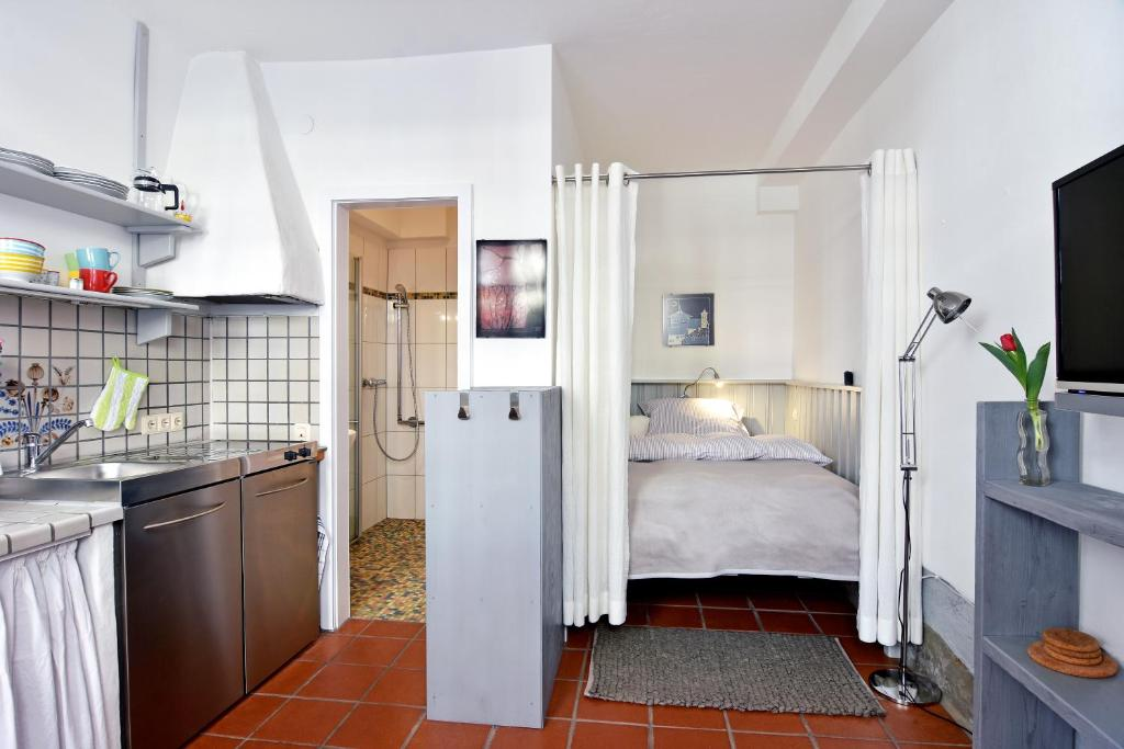 Kjøkken eller kjøkkenkrok på Apartmenthaus Duderstadt