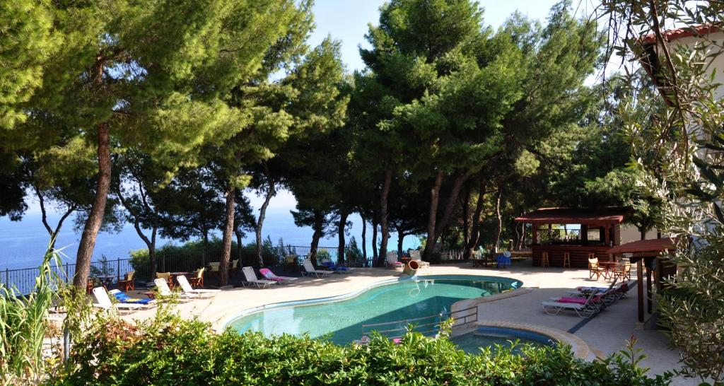 A view of the pool at Evripidis Hotel or nearby