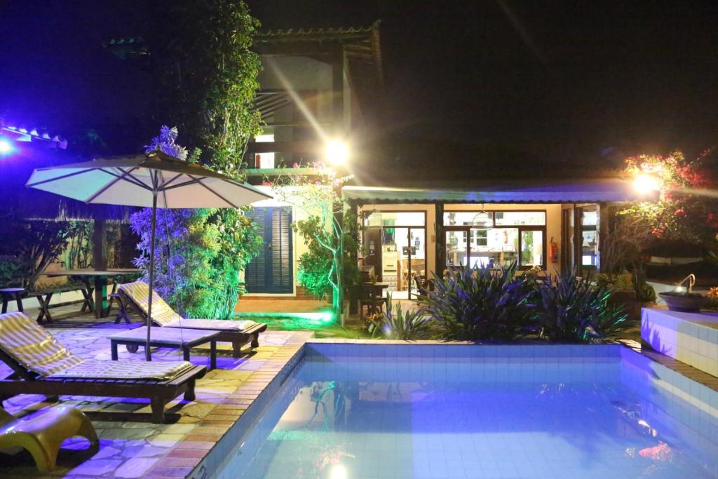 The swimming pool at or near Pousada Solar Dos Corais
