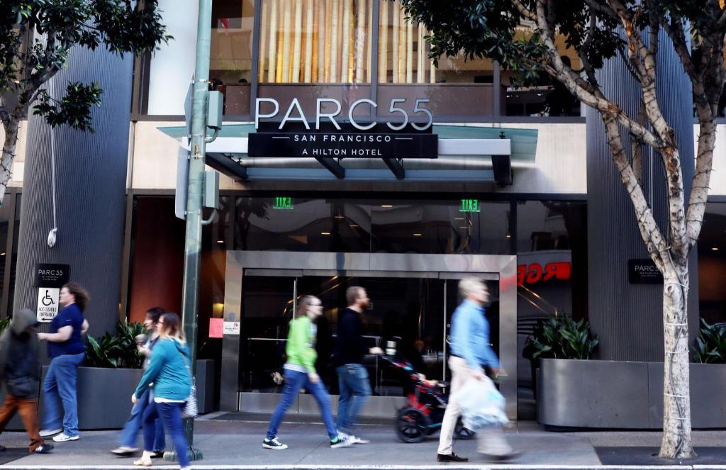 Hotel Parc 55 Hilton Union Square, San Francisco, CA ... on union square san francisco ca map, san francisco hotels civic center map, union square shopping map,
