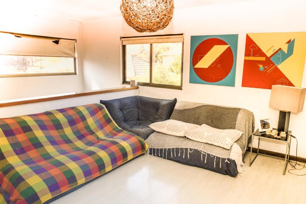 Zona de estar de Casa Deco con piscina