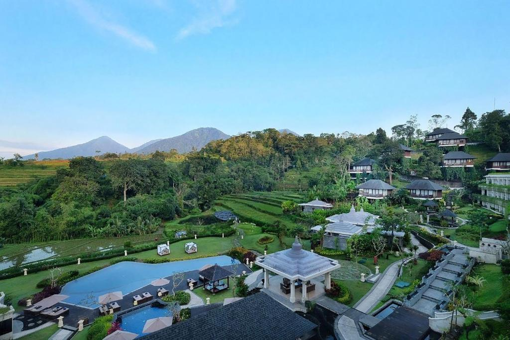A bird's-eye view of Saranam Resort & Spa Bali