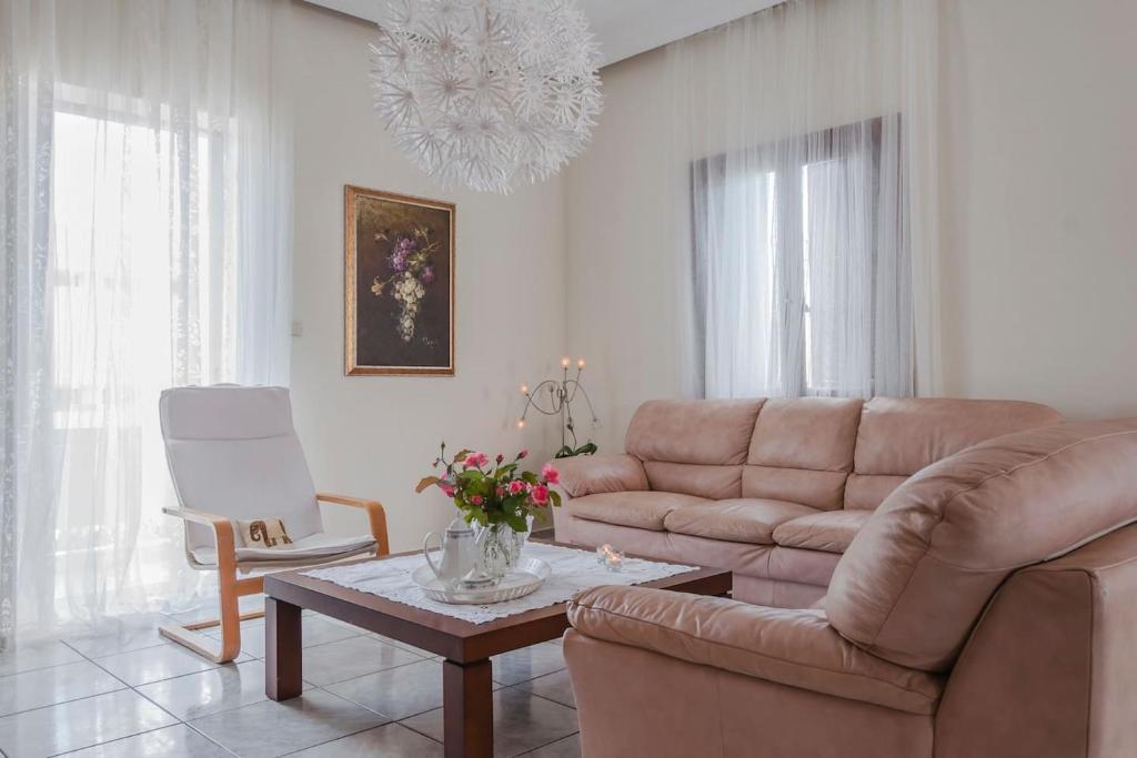 Area soggiorno di Anna's Beautiful Apartment