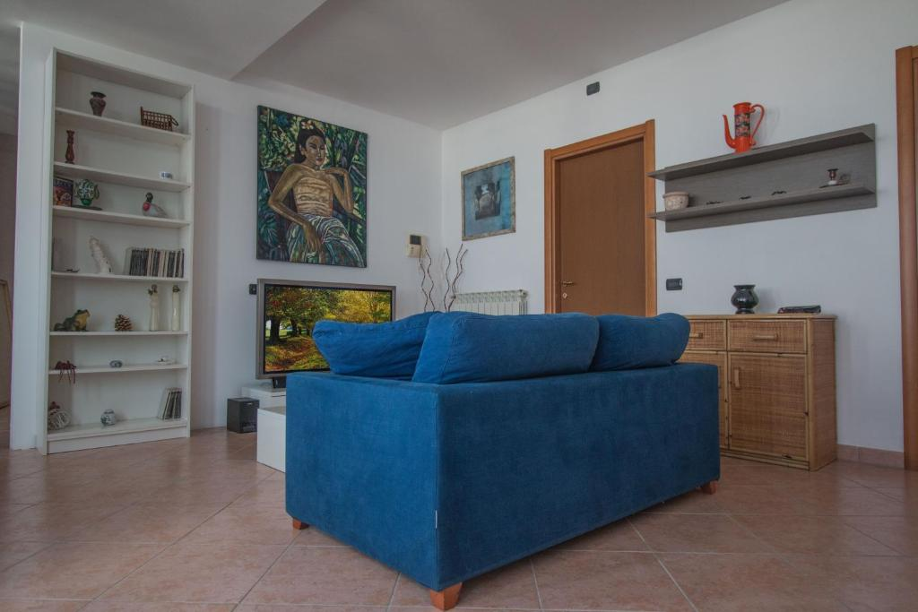 A seating area at Casa Tiziana