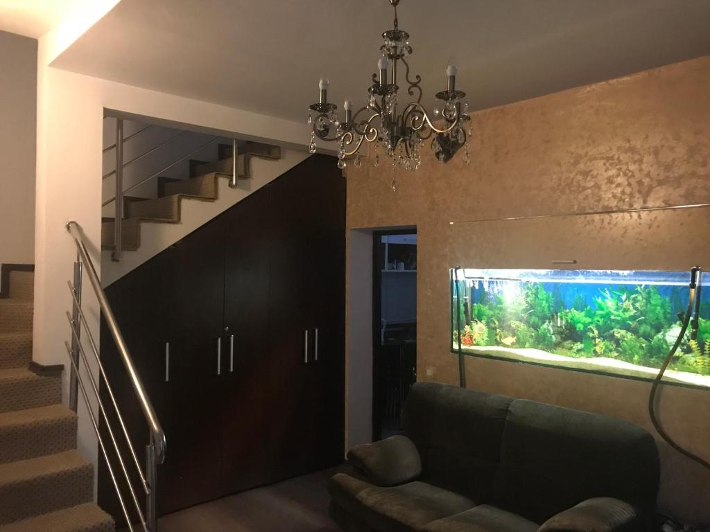 A television and/or entertainment center at Bucharest Center Villa