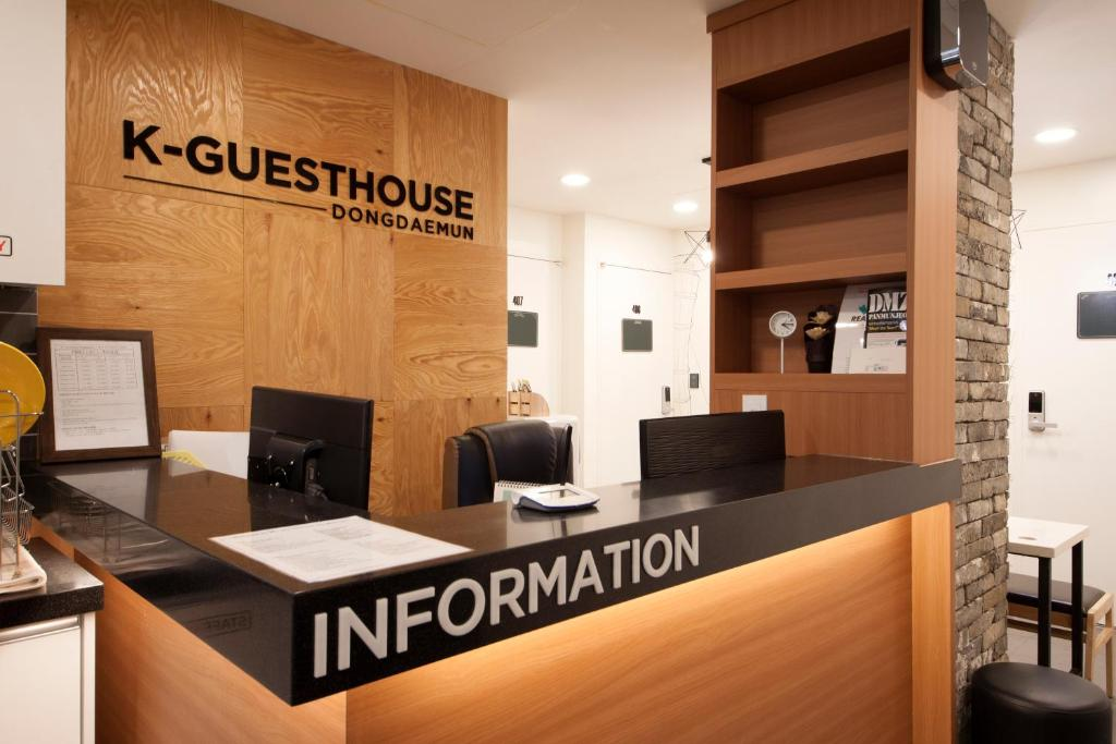 The lobby or reception area at K-Guesthouse Dongdaemun
