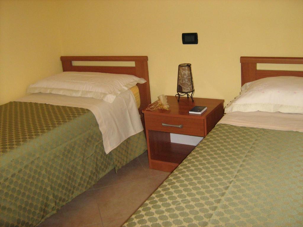 Cama o camas de una habitación en Villa Miriam