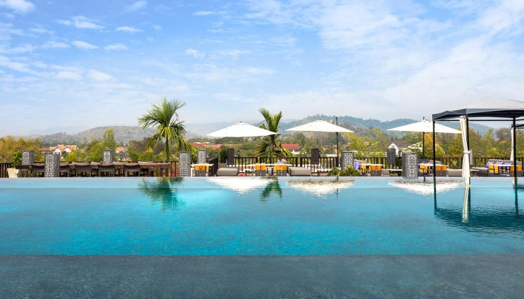 The swimming pool at or near Kiridara Luang Prabang