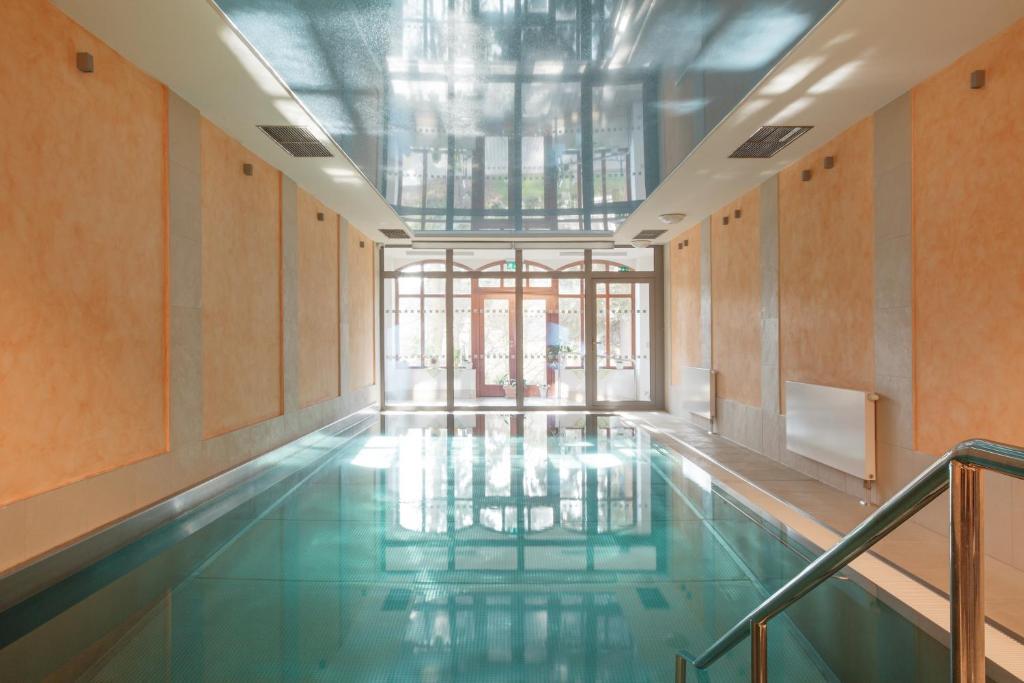 The swimming pool at or near Lazensky Hotel Smetana - Vysehrad