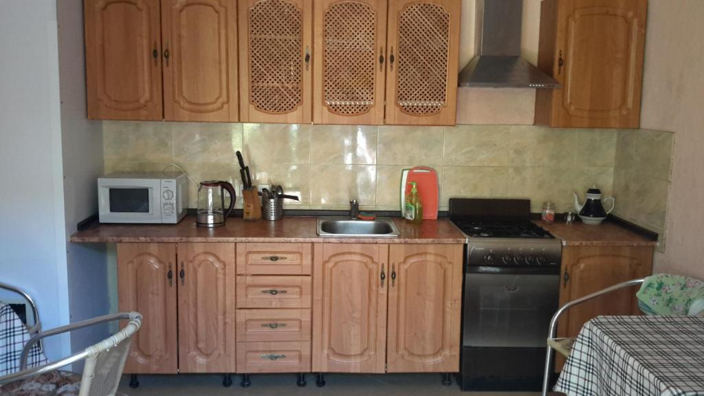 A kitchen or kitchenette at Guest house Atlantik