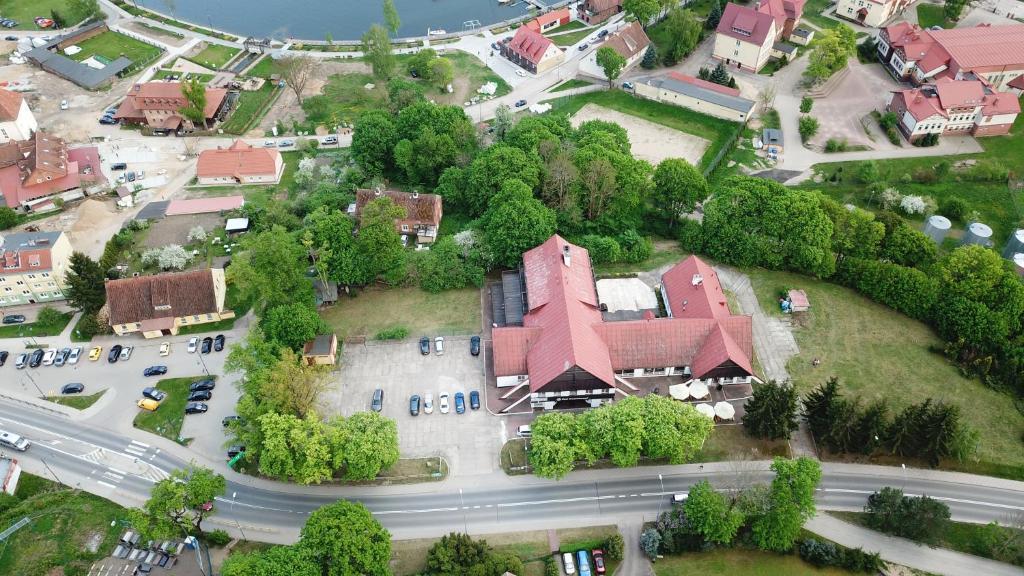 A bird's-eye view of Zajazd Pod Kasztanami