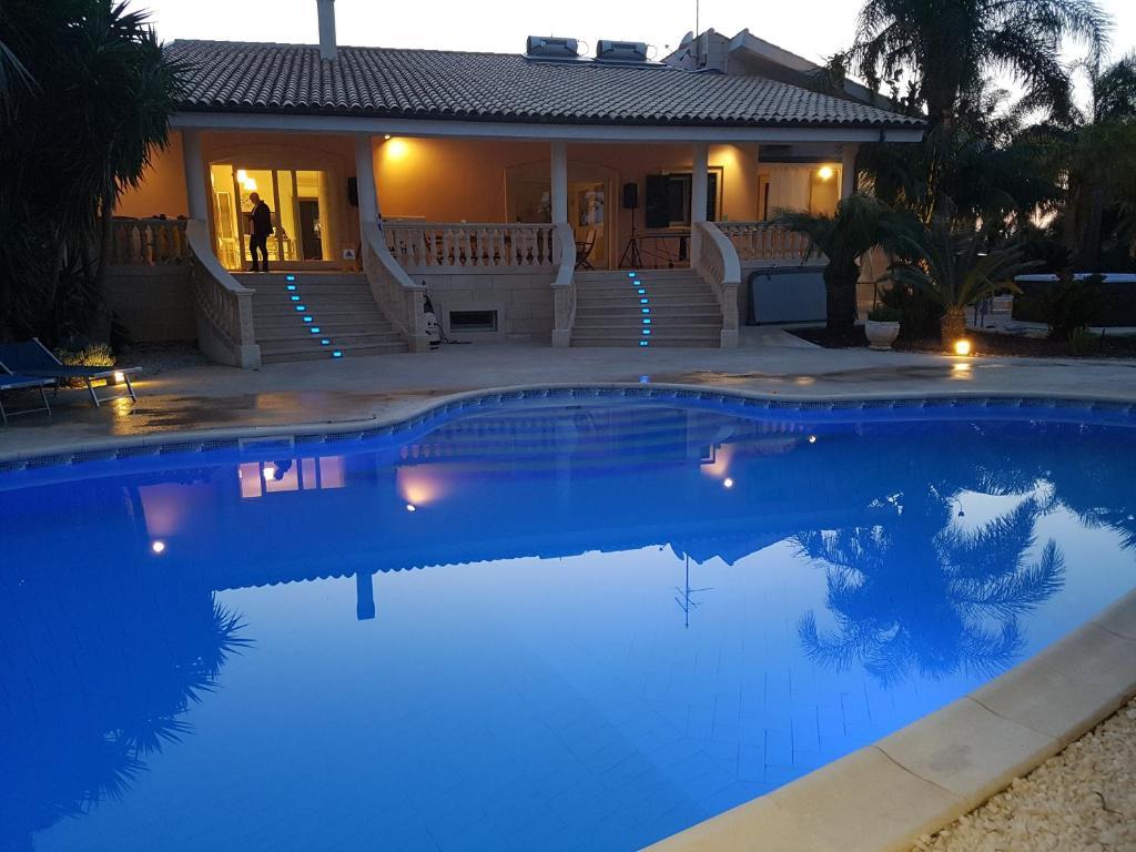 The swimming pool at or near villa Bismarkia