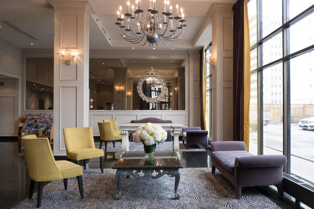 The lobby or reception area at The Roehampton Hotel