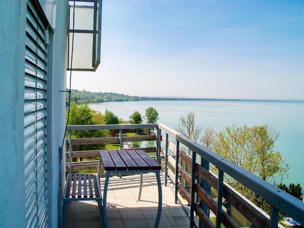 A balcony or terrace at Világos Hotel Balatonvilágos